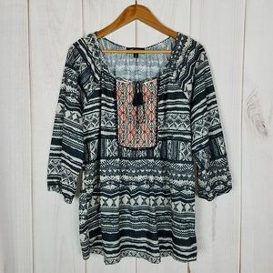 Absolutely Famous Boho Peasant Festival Hippie Top